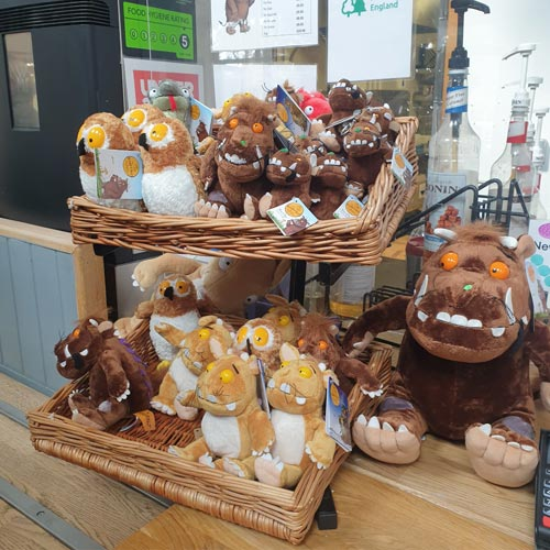 A small range of Gruffalo merchandise was on sale in the on-site cafe.
