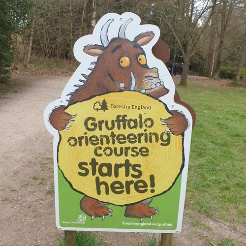 A new Gruffalo Orienteering activity has been added to Alice Holt Forest's themed sculpture trail.