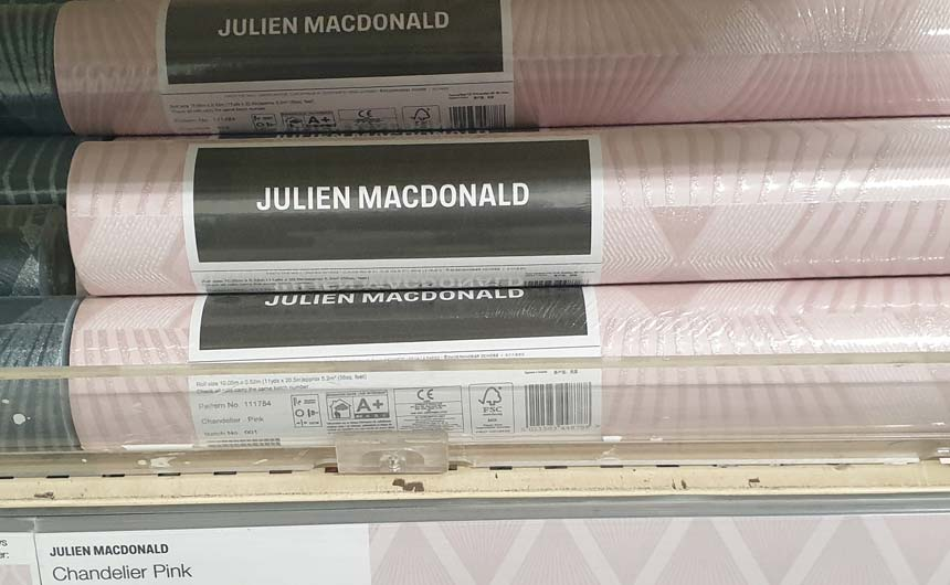 The Julien Macdonald wallpaper range gives consumers confidence to try new colours, finishes and styles.