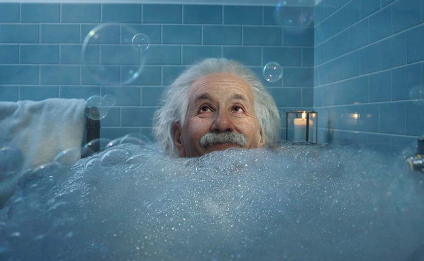 Albert Einstein's appearance in the Smart Meters ad is a reminder for the potential of licensing in advertising campaigns.