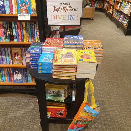 David Walliams' bestselling books were accompanied by stationery lines from Blueprint in Waterstones.