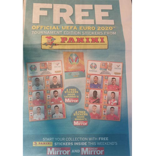 Teaming with a national newspaper is a well trodden promotional path for sticker companies and collections.