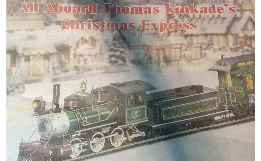 Bradford Exchange is bringing Thomas Kinkade into the limelight via advertising.