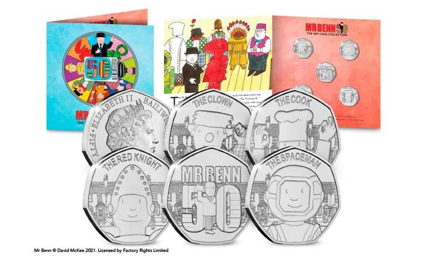 Mr Benn is marking his 50th anniversary with special coins from Westminster Collection.