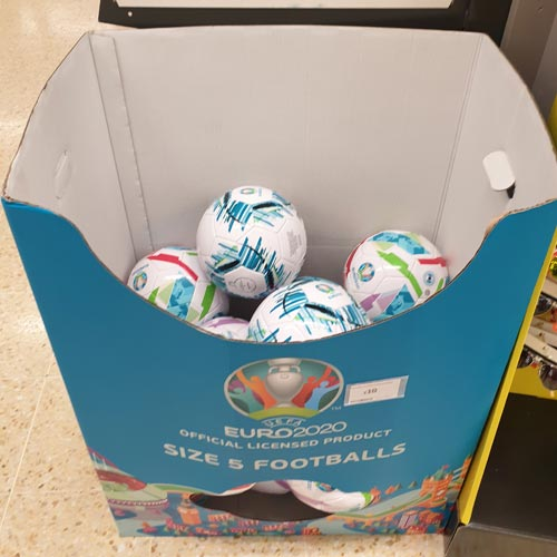 Euro 2020 is starting its takeover of Sainsbury's as the tournament nears.