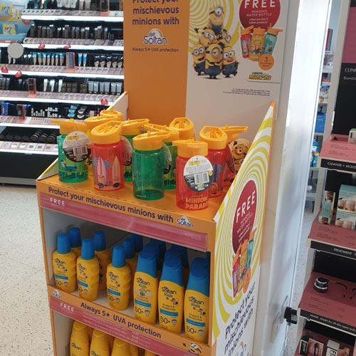 The Minions and Soltan suncream promotion is running once more in Boots.