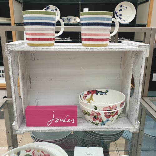 John Lewis also featured a Joules-branded homewares range.