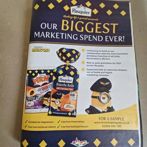 The Brioche Pasquier Minions campaign is a great endorsement for licensing.