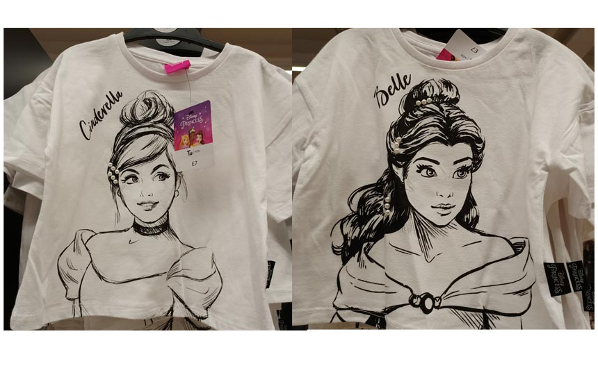 The Disney apparel in Sainsbury's showcased a good variety of designs and design styles.