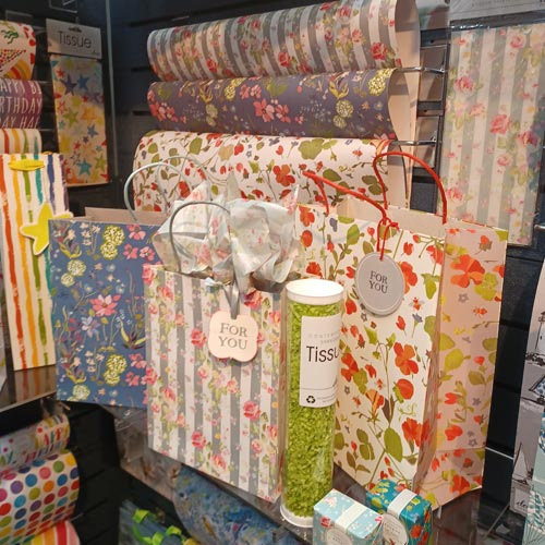 The Deva Designs stand showed there is scope for other products to be sold in greeting cards outlets.