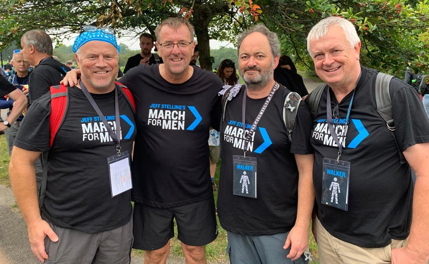 Simon, Ian and Chris with Matthew Le Tissier on the recent March for Men in aid of Prostate Cancer.