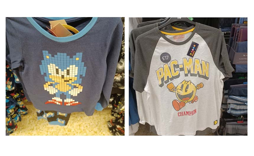 SEGA's Sonic the Hedgehog and Pac-Man were just two of the gaming brands featured in Sainsbury's.