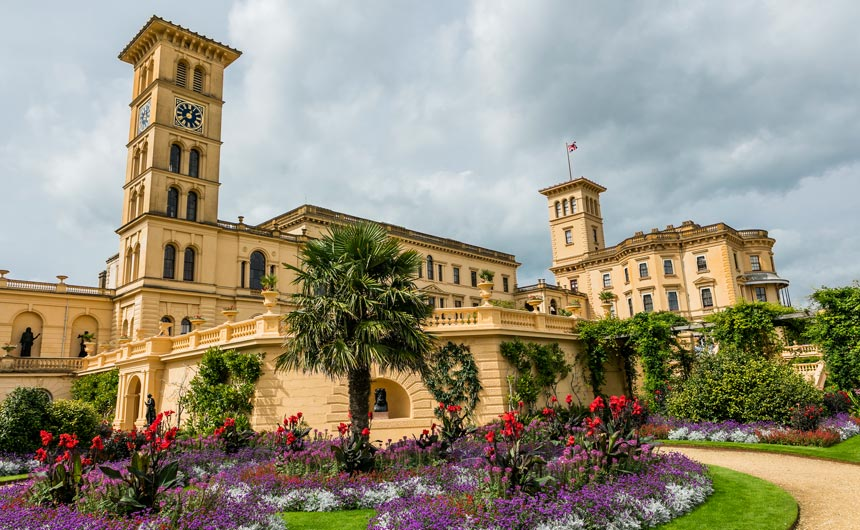 The palatial former holiday home of Queen Victoria and Prince Albert, Osborne House is located on the Isle of Wight.