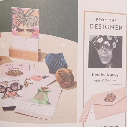 The range and Kendra are featured on a page in the catalogue and also featured in the introduction.