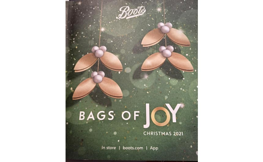 Boots has launched its Christmas 2021 catalogue this week - entitled Bags of Joy.