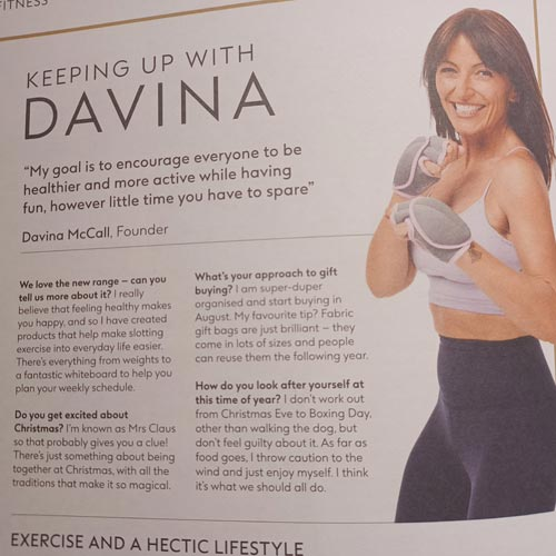 It seems a sensible move for Boots to work with Davina McCall in a category like exercise.
