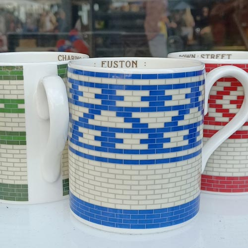 The London Transport Museum featured a new ceramics range featuring tile patterns from underground stations.