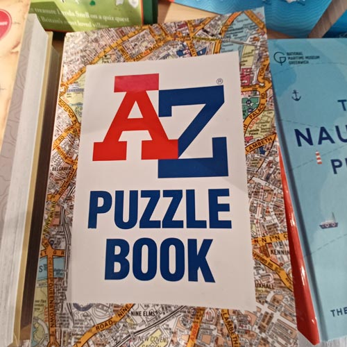 An A-Z quiz book was among the licensed finds in Stanfords.